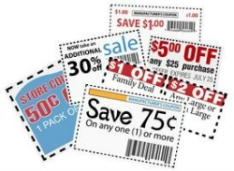 Clip this group of six print coupons as elements store sale ad designs