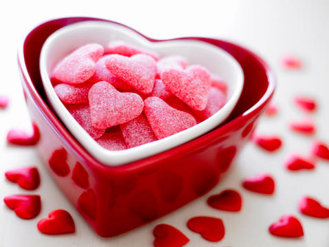 Heart Bowl with Heart Sweets
